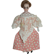 German Solid Dome Doll House Doll - Glass Eyes