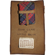 "1933 Miniature Book and Calendar - Scott's ""The Lady of The Lake"""