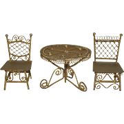 Gold Filigree Patio Set - Dollhouse