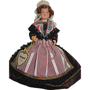 French Celluloid Perigord Doll - Regional Dress