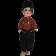 "12"" German Dutch Boy - Painted Bisque Head, Composition Body"
