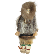 Athebascan Alaskan Indian Doll - Artist Signed