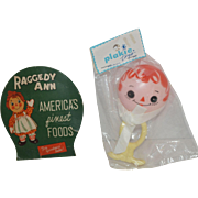 Vintage Raggedy Ann Baby Rattle & Needle Case