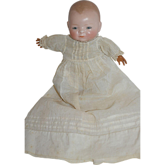 Grace Putnam Bye Lo - Bisque head, Celluloid hands, Cloth frog body