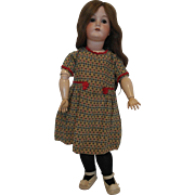 "22"" German Bisque Head Doll on Jointed Body - Marks B.3."