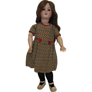 """22"""" German Bisque Head Doll on Jointed Body - Marks B.3."""