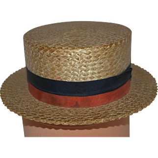 Marvita Straw Boaters Hat - early 1900's