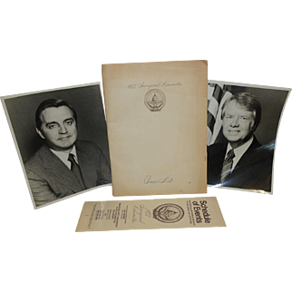 1977 Bush & Mondale Inaugural Committee Press Kit