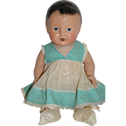 """1930-40's Composition Drink & Wet Doll - 12"""" tall"""