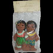 Pair of Cloth Hawaiian Dolls - MIP