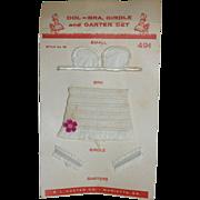 1950's Fashion Doll Under Garments - on orig. Card