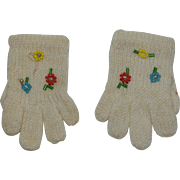 Beaded Knit Doll Gloves
