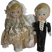 Japanese All Bisque Wedding Couple - Red Tag Sale Item
