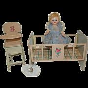 1950's M.A. Little Genius & Chein High Chair & Crib