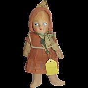 Orange Sister Vintage Cloth Doll