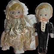 Japanese Bisque Wedding Cake Couple