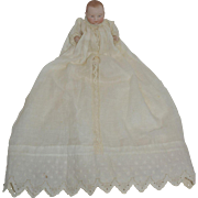 """5"""" All Bisque Putnam Bye Lo Baby in Gorgeous Christening Outfit"""