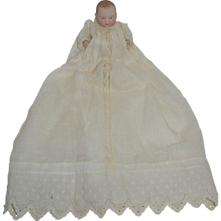 "5"" All Bisque Putnam Bye Lo Baby in Gorgeous Christening Outfit"