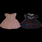 1950's Dresses  - Pink & Plaid - fit P-91 Toni Doll