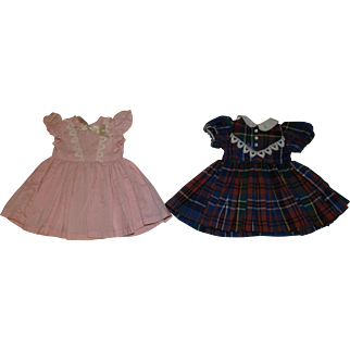 1950's Dresses  - Pink & Plaid - fit P-91 Toni Doll