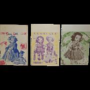 1953 Terri Lee Newsletters x 3