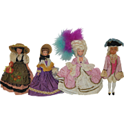 Vintage French Regional Dolls x 4