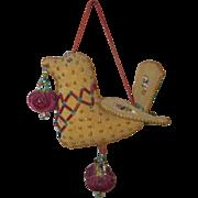 Vintage Iroquois Beaded Bird Pin Cushion