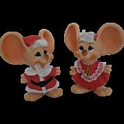 1960's Huron Mr. & Mrs. Mouse Claus