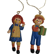 1975 Merrill Raggedy Ann & Andy Ornaments