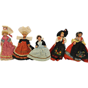 French Regional Dolls - Celluloid - x5