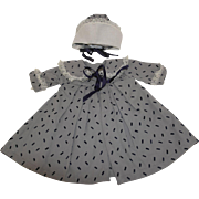 Lace Trimmed Coat & Bonnet for your 1940's - 50's Doll