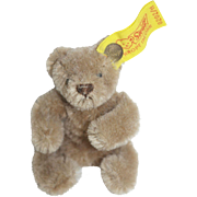"Tagged Steiff 3"" Brown Mohair Bear"
