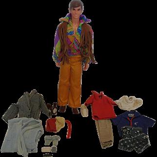 1970's Mattel Live Action Stage Ken - plus extras