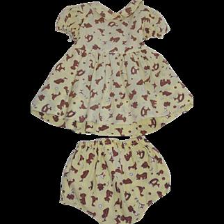 1950's Nursery Print Dress and Panties - Dy Dee & Tiny Tears