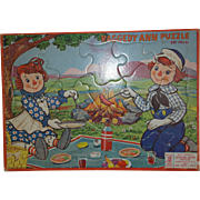 1953 Raggedy Ann & Andy Puzzle by Johnny Gruelle Co.