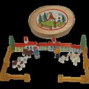 German Putz Village - in original wooden box