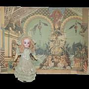 Antique L'Opera Theatre Background Scene - Printed in Germany