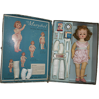 1959 M.A. Marybel Get Well Doll and Trunk