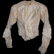 Victorian Wedding Dress - Shirtwaist and Pleated Skirt - Summer Wool & Cotton