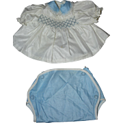 1950's Smocked Top and Diaper Cover for Dy-Dee, Betsy Wetsy, Tiny Tears, etc