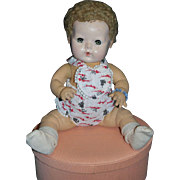 """1940's 15"""" Dy-Dee Baby with Blonde Caracul Wig"""