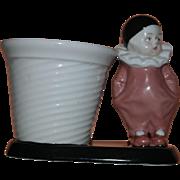 Art Deco German Pierrot Vase
