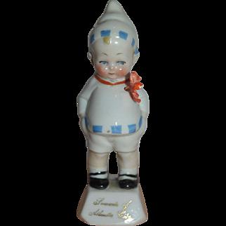 German Bisque Boy Figurine - Atlantic City Souvenir