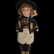 """SFBJ 8"""" Regional Doll - Bisque Head, Compo Body - all orig."""