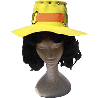 1970's Belvedere Wool Felt Sun Hat