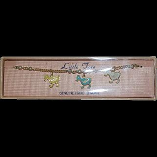 1950's - 60's Enameled Child's Bracelet