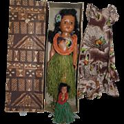"1950's Hawaiian 18"" SLW Doll - orig. box - plus Extras!"