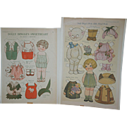 1924 and 1929 Dolly Dingle Paper Dolls by Grace Drayton