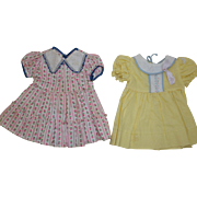 1950's Cotton and Pique Doll Dresses
