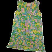 "1960's ""Flower Power""  Paper Dress"